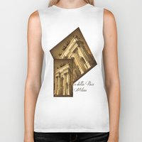 lee pace Biker Tanks featuring Arco della Pace Milan by Louisa Catharine Photography And Art