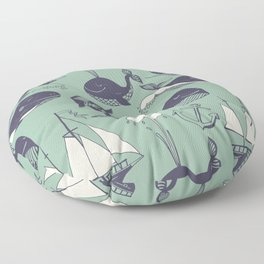 funny whales Floor Pillow