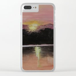 Grundy Lake Sunset Clear iPhone Case