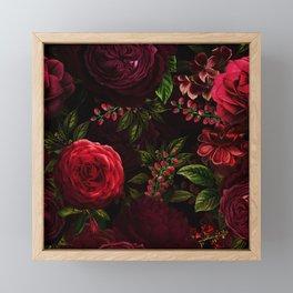 Mystical Night Roses Framed Mini Art Print