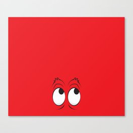 Monster Eyes Red Canvas Print