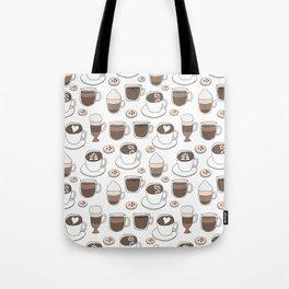 Coffee Cups Tote Bag