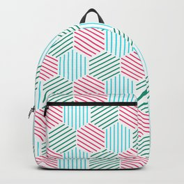 Abstract pattern in rgb style Backpack