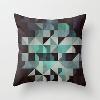 noir Throw Pillows featuring noir? by Spires