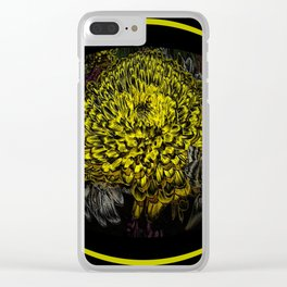 Black Yellow Pink Design Clear iPhone Case