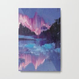 Glitched Landscapes Collection #4 Metal Print