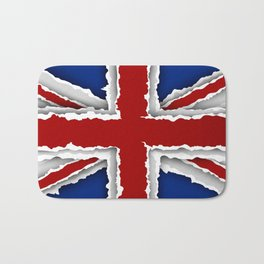 design flag from torn papers with shadows Bath Mat