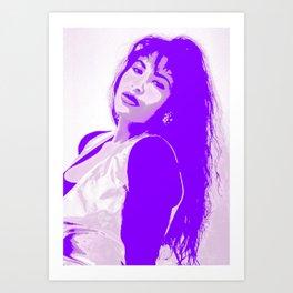 SelenaQuintanilla Queen of Tejano Como la Flor Bidi Bidi bom bom PURPLE Art Print