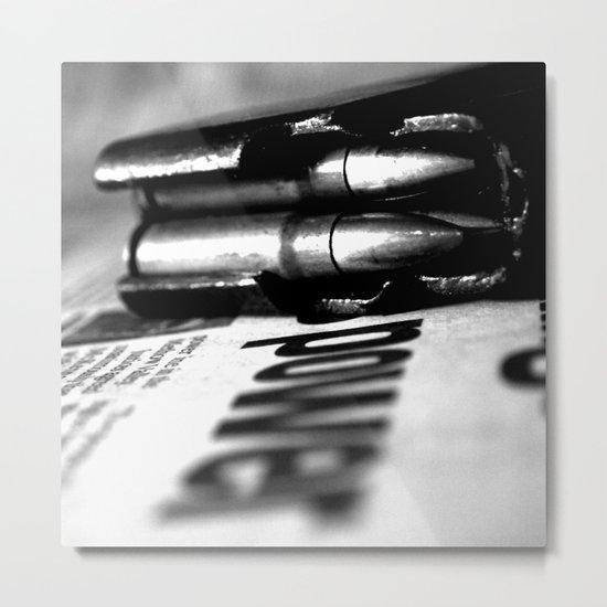 Pen and Sword Metal Print