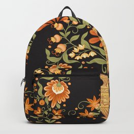 Seamless pattern tradition mughal floral motif Backpack