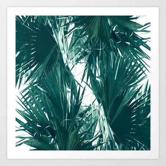 Palm Twist Art Print