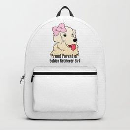 Proud Parent of Golden Retriever Girl - English Cream Version Backpack
