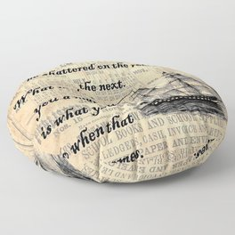 Count of Monte Cristo quote Floor Pillow