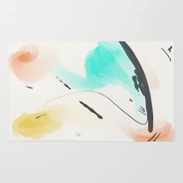 Abstract sunrise S3 Rug