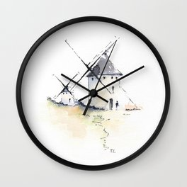 Spanish Windmills Wall Clock
