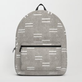double dash on greige Backpack