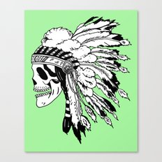Black and White Native American  Canvas Print