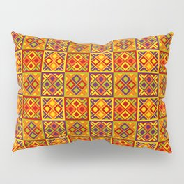 Heart of Africa Kente Cloth Pattern Print Pillow Sham