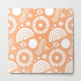 summer vacation, tangerine Metal Print