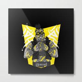 wrestling gamer biker character figure gift idea Metal Print