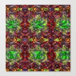 Volcanic Rock & Emeralds Canvas Print