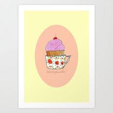Teacupcake! Art Print