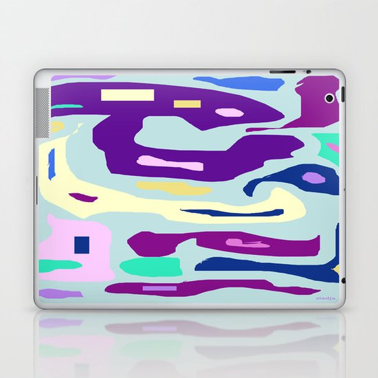 color blue Laptop & iPad Skin