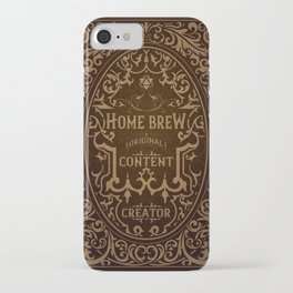 D20 Home Brew Content Creator Aged Label iPhone Case