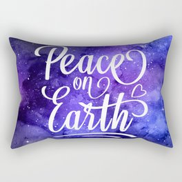 Peace On Earth Quote Rectangular Pillow