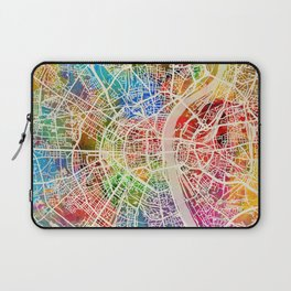 Cologne Germany City Map Laptop Sleeve