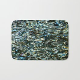 Mercurial Prismatic Waves Bath Mat
