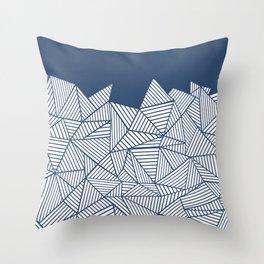Abstract Mountain Navy Throw Pillow