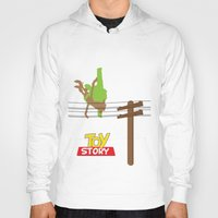 toy story Hoodies featuring Toy Story - Falling With Style by Gary Wood