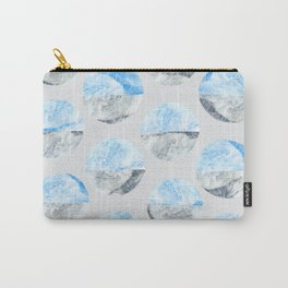 Feather Cloud Dot Pattern Carry-All Pouch