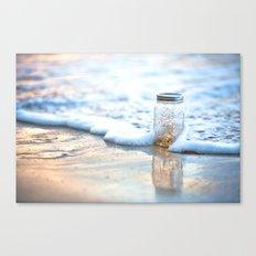 Jar of Dreams - Hawaiian Sunset on the Beach Canvas Print