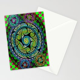 Variated Spheres #1 Psychedelic Celtic Design Stationery Cards