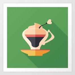 Cup of Latte Art Print