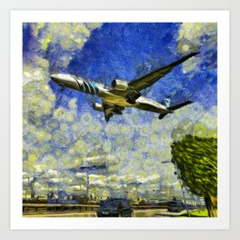 Airliner Van Gogh Art Print