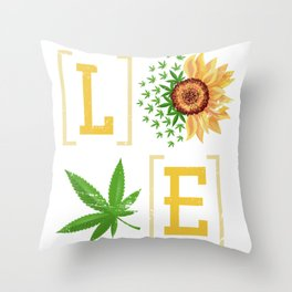 Love Weed Throw Pillow