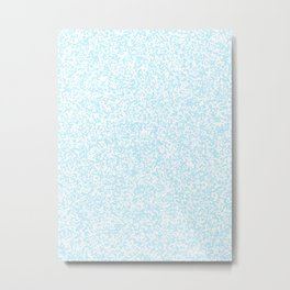 Tiny Spots - White and Light Blue Metal Print