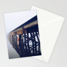 Train Bridge in the Fog-I Stationery Cards