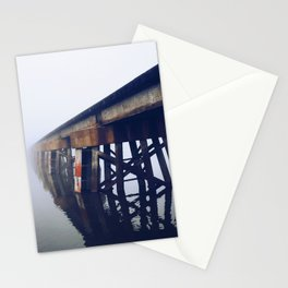Train Bridge in the Fog-I Stationery Cards