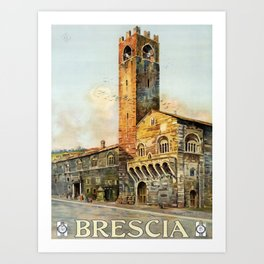 retro Brescia Art Print