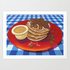 Pancakes Week 4 Art Print