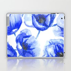 Flora Blue Laptop & iPad Skin
