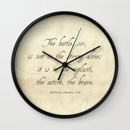 The Battle by Patrick Henry Wall Clock