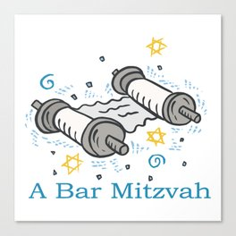 Bar Mitzvah with scroll Canvas Print