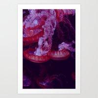 La méduse sociale (2) Art Print