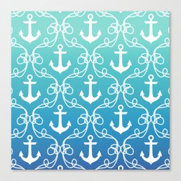 Nautical Knots Ombre Canvas Print