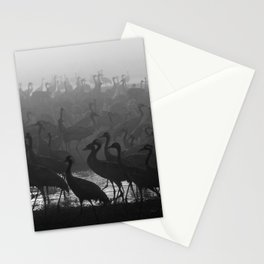 Cranes in the fog Stationery Cards